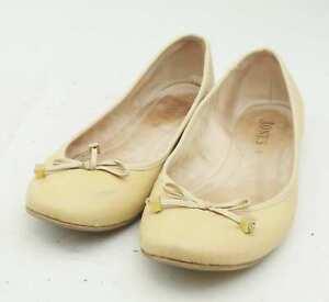 Jones-Womens-EU-Size-39-Beige-Leather-Dolly-Shoes