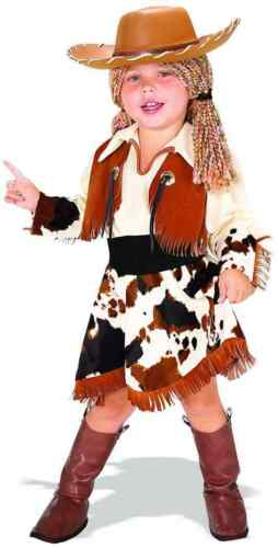 Cowgirl Sheriff Western Rodeo Girl Fancy Dress Up Halloween Child Costume w//Hat