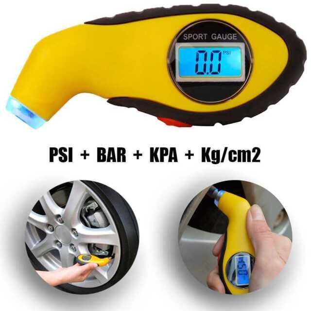 rongweiwang Digitale Reifen Manometer Auto Luftdruckmesser Fahrrad-LKW Auto Reifen-Meter Pr/üfvorrichtung-Reifen-Luftdruck-Lehre
