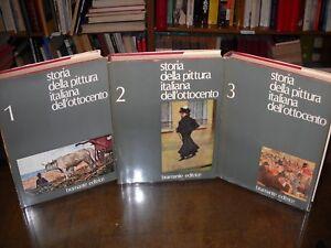 Storia-della-pittura-italiana-dell-039-ottocento-Bramante-editrice-1975-3-volumi