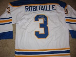 Sabres Mike Robitaille signed white Jersey  W/COA