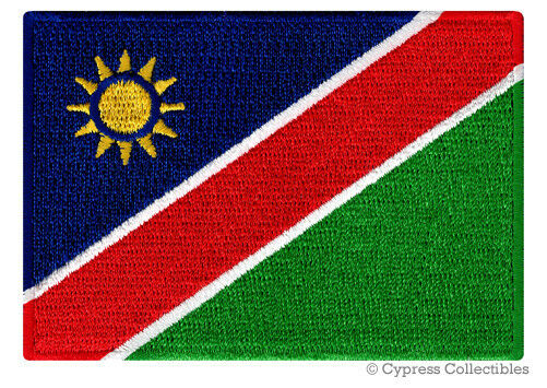 GHANA FLAG PATCH AFRICA EMBROIDERED SOUVENIR APPLIQUE w// VELCRO® Brand Fastener
