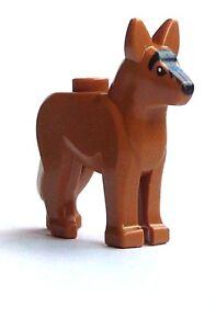 Lego-Hund-hellbraun-Schaeferhund-Wachhund-Medium-Dark-Flesh-Dog-Shepherd-Neu-New