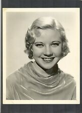 EXQUISITE YOUNG UNA MERKEL PORTRAIT BY C S BULL - 1934 DBLWT - EVELYN PRENTICE