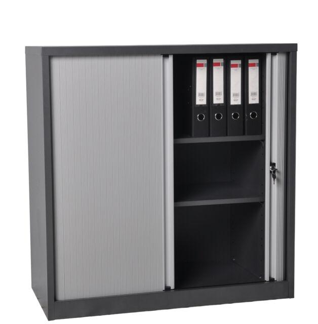 Tambour Door Cabinet Half Height Tambour door Stationery Storage Cupboard