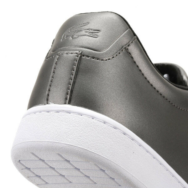 Lacoste Donna Lacoste Donna Dark Grey Carnaby Carnaby Grey EVO 317 4 Trainers Casual SHOES 3068f1
