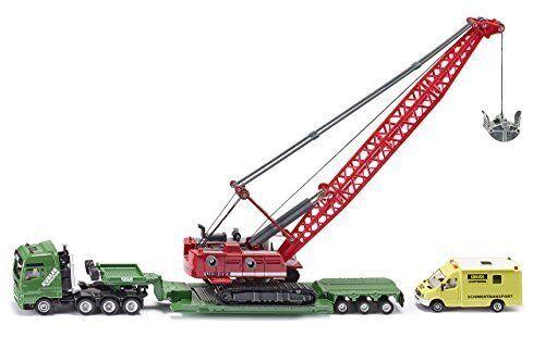 tienda de ventas outlet 1 87 87 87 transportador de transporte por pesado con excavadora & Rescue Vehículo Fundición Vehículo  perfecto
