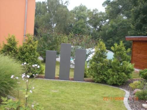 Stelen Granit Stelen Metall Sichtschutz Stelen Granit Stelen Garten 1400-350-B
