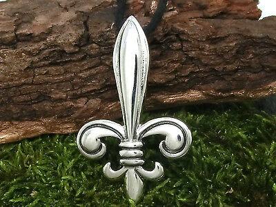 Fleur de Lis Anhänger Silber 925 französische Lilie Fleur de Lys b378