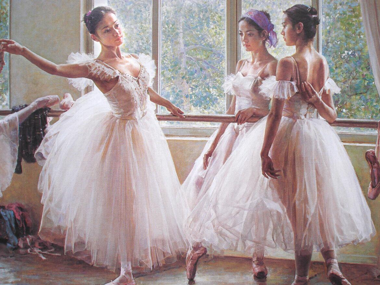 3D Ölgemälde Ballett Mädchen 8 8 8 Tapete Wandgemälde Tapete Tapeten Bild Familie DE   Vielfalt    Bunt,    Haltbarkeit  b26051