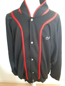 ce7c5242d00db Vintage Nike 90's Jacket Sweater Full Snaps Black Red Sz XL ...