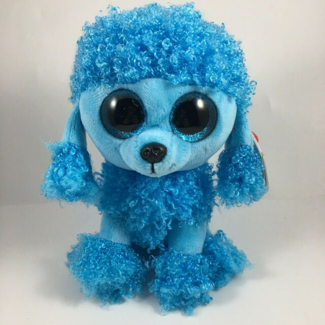 NWT/'S NEW Ty Beanie Boos ~ MANDY the Blue Poodle Dog 6 Inch Size