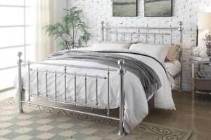 Image Is Loading Traditional Metal Bed Frame Double King Size Modern