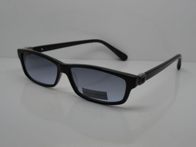 bfc9a744e5 David Yurman DY004 01 Ss bo .925 Black Onyx 54mm Sunglasses W  Case ...