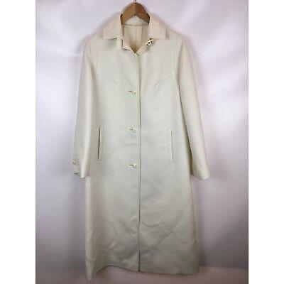 FABRIC BY KLOPMANN, Vintage Damen Mantel, weiß, Größe 40
