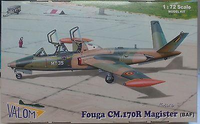 Valom 1//72 Model Kit 72087 Fouga Magister CM.170 Decals Belgium