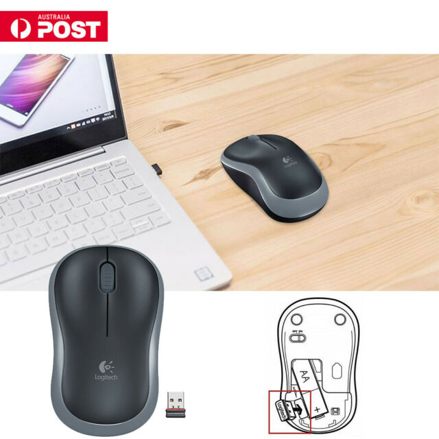 Logitech M185 Grey Wireless Optical Mouse Compact for PC Laptop Mac Linux AU
