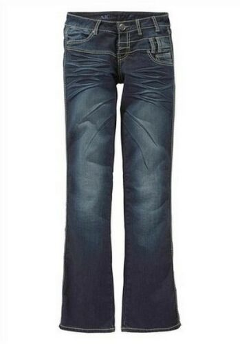 Arizona Jeans Gr.34 NEU Damen Hüft Hose Stretch Denim Dark Blau AJC Samba L32