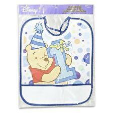 WINNIE THE POOH'S BOY 1st ~(1) Plastic 1st Birthday Bib ~Birthday Party Supplies