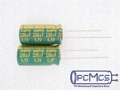 5pcs//50pcs 6.3V 2200uF 6.3V Rubycon MCZ 10x20mm Low ESR Motherboard Capacitor