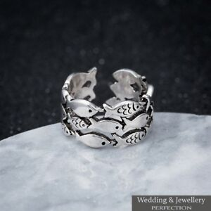 92a38d9e28a28 Details about 925 Sterling Silver Ring Band Knuckle Thumb Finger Toe Fully  Adjustable Jewelry