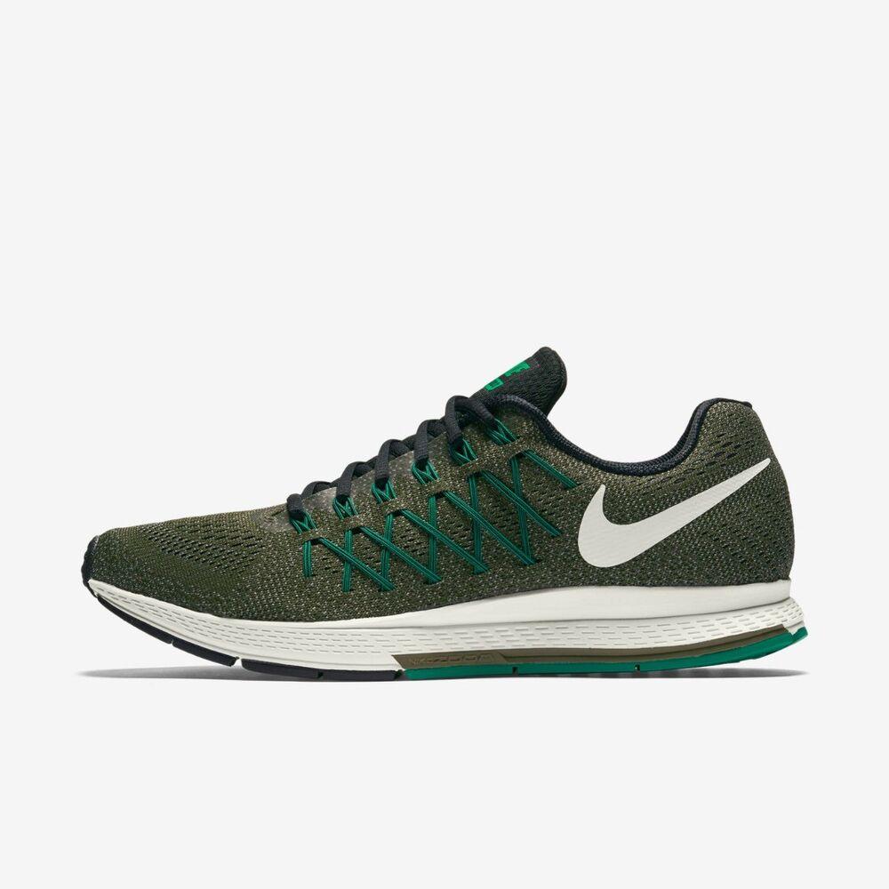 Nike Air Zoom Pegasus 32 homme fonctionnement entraîneur Shoe kaki Taille 8 - 10 RRP £ 90/--