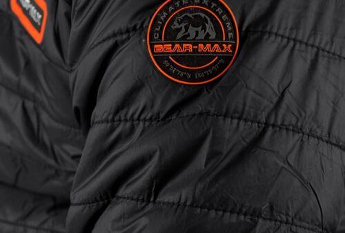 Bear Max Grizzly Hommes Veste D/'Hiver Veste Matelassée Parka Padded Jacket Men Noir
