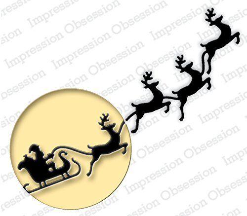 446R Impression Obsession MERRY CHRISTMAS FLOURISH die