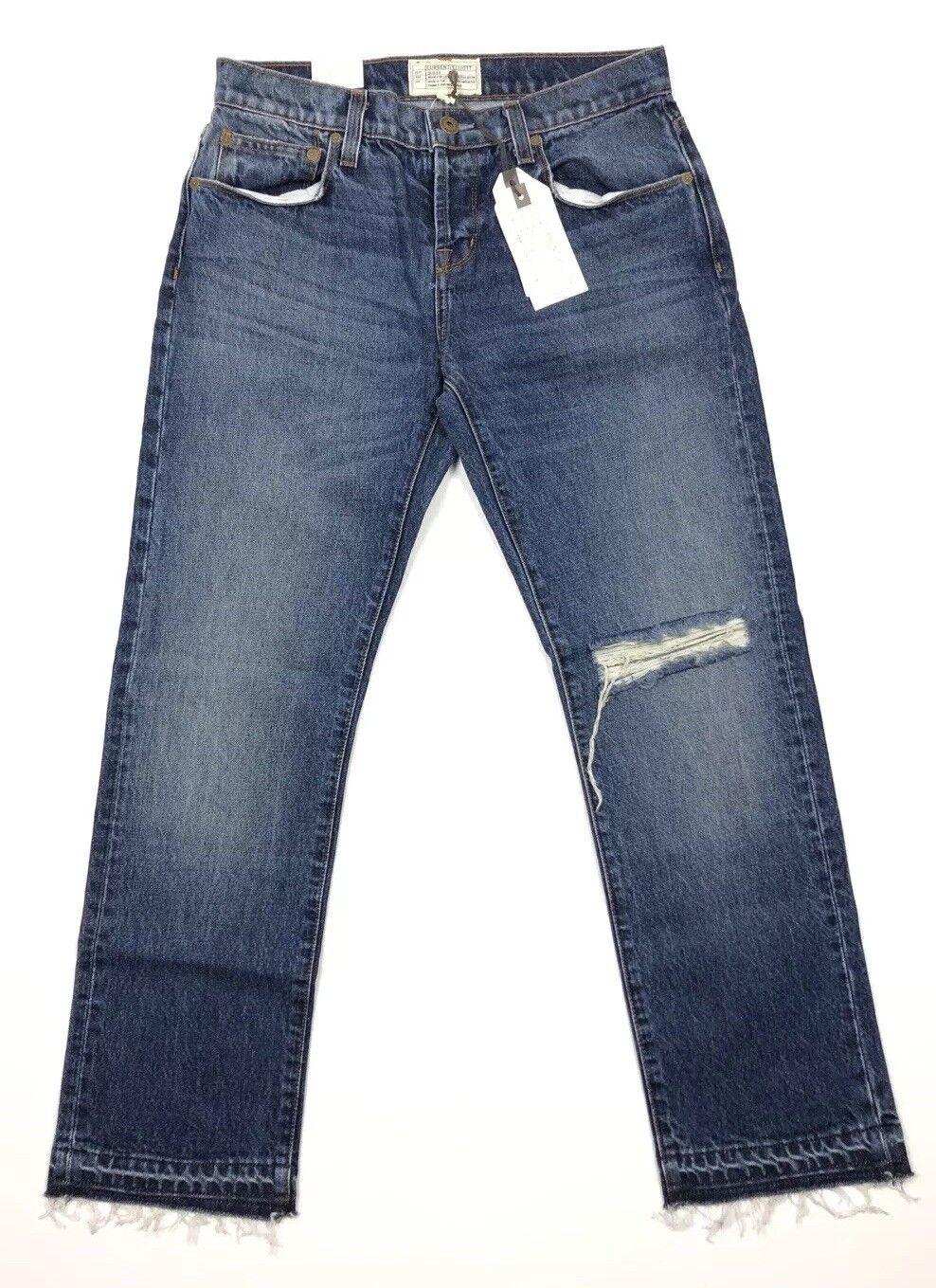 Current Elliott 30 Credver Jeans Distressed Raw Hem Denim Women's NWT