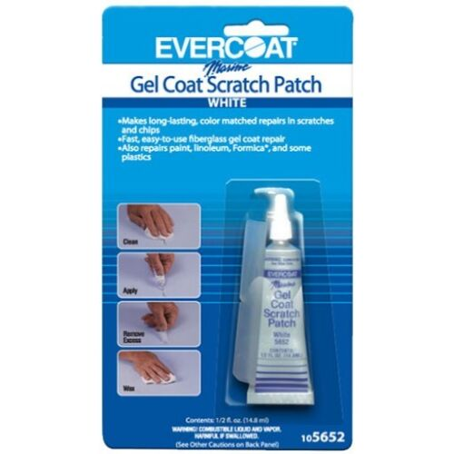 Evercoat Gel Coat Scratch Patch White 0.5 Ounce