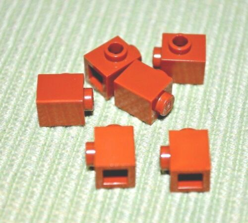 1x1 Dark Orange Brick w// Peg and No Ledge Bricks ~ Lego ~ NEW ~ Castle 6
