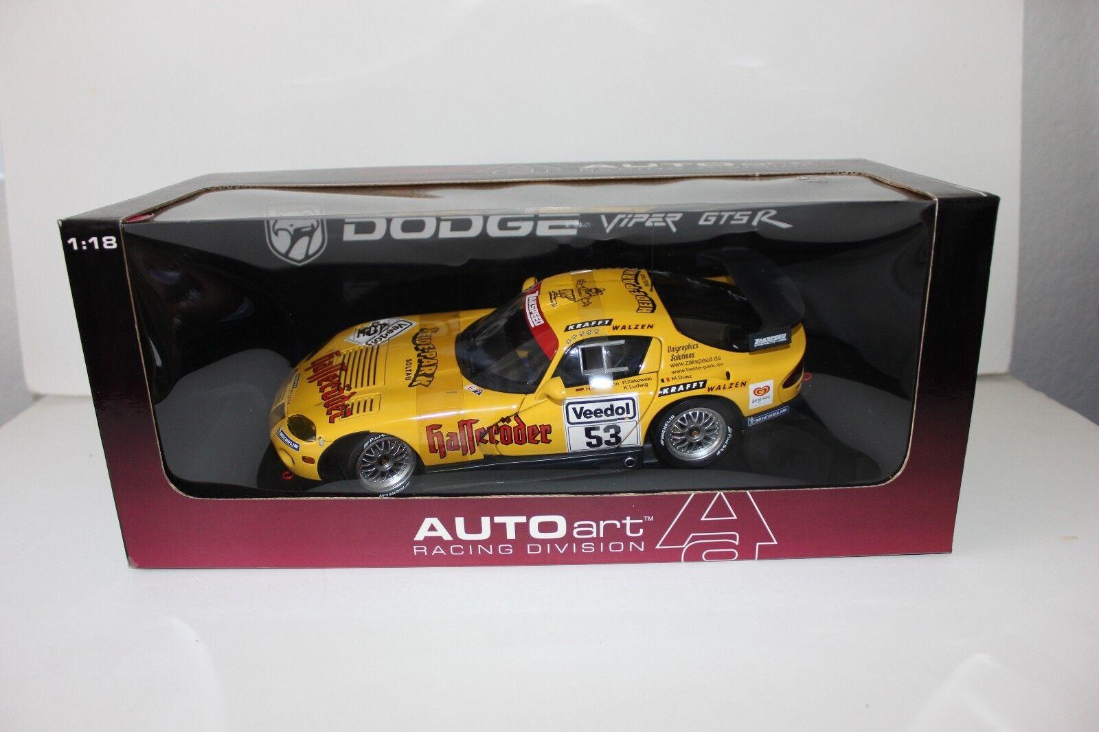 AUTOART 1/18 - 1999 DODGE VIPER GTS-R ZAKSPEED  53 89921