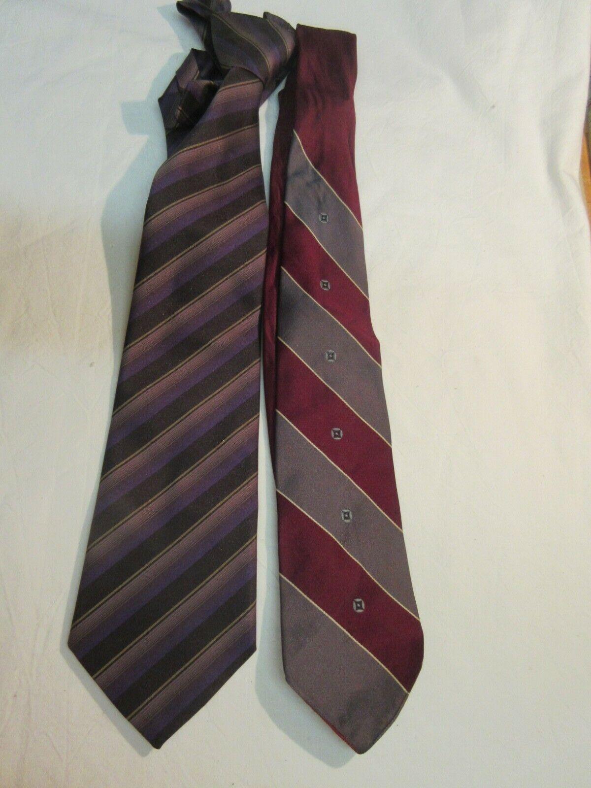 2 elegante gestreifte Krawatten von Adriano und Rhodiafil