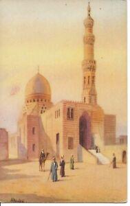 Mosque-of-Qait-Bey-Egypt-Artist-Signed-AYOUB-BISHAI-R51