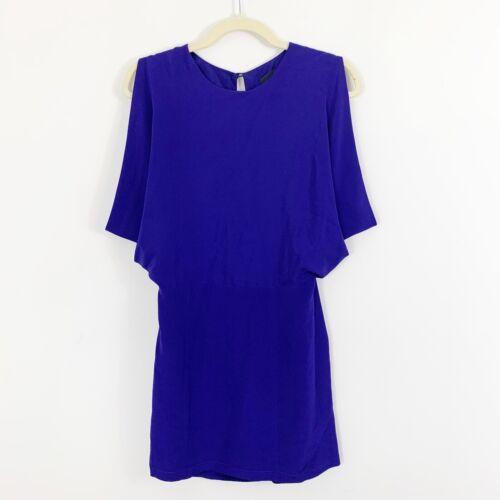 Wren Open Back Kimono Sleeveless Mini Silk Dress S