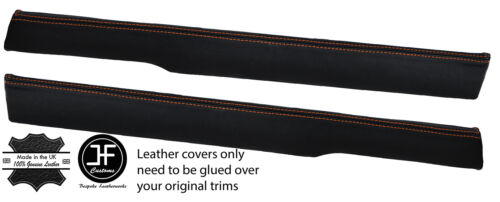 ORANGE  STITCH 2X TOP FRONT DOOR CAPPINGS LEATHER COVERS FITS MG MGB GT CLASSIC
