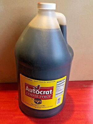 Autocrat Coffee Coffee Syrup 128 Oz Jug Rhode Island Famous New England Drink Ebay
