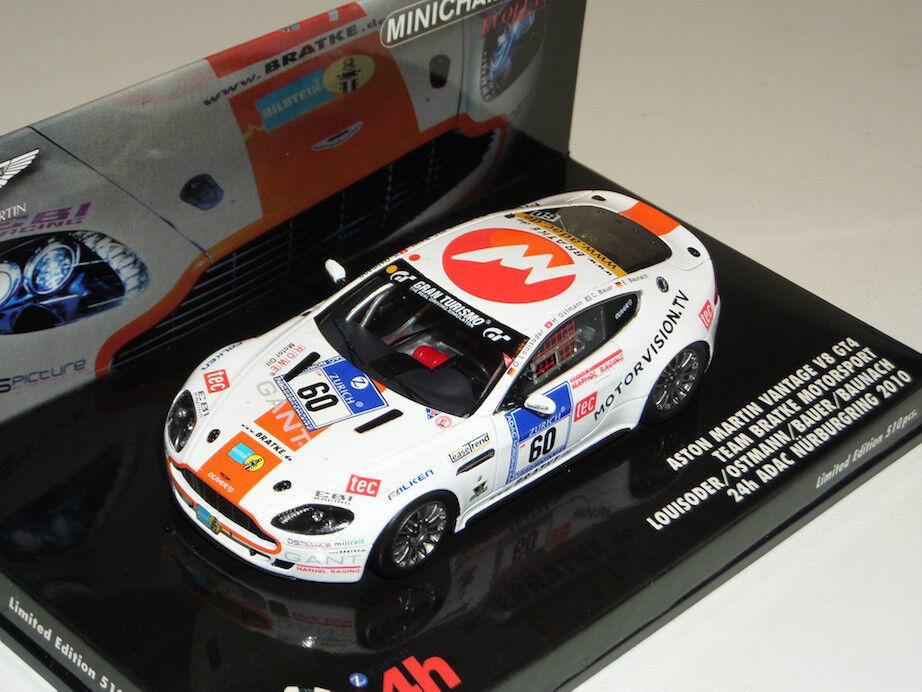 marcas en línea venta barata 1 43 43 43 Minichamps Aston Martin Vantage V8 GT4  60 24h Adac Nurburgring 2010  genuina alta calidad