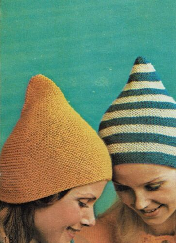 Easy knit /& crochet Lady/'s Hats knitted and crochet for summer and winter.