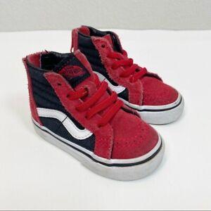 Vans Sk-8 Red Suede Sneakers size 4