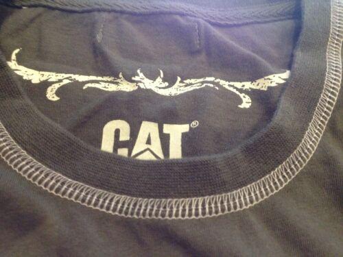 Camiseta Para Mujer Caterpillar Cat Verde Militar De Algodón De Las Señoras UK S//M//L//XL Prenda para el torso Camiseta