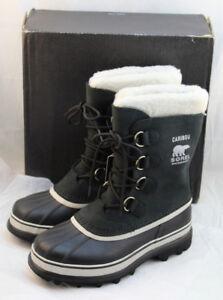 5f6f4baf66c NIB SOREL Caribou Size 8 M Black Stone Winter Snow Women s Boots ...