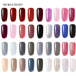 NICOLE-DIARY-3-in-1-Soak-Off-UV-Gel-Polish-One-Step-Glitter-Nail-Art-Varnish