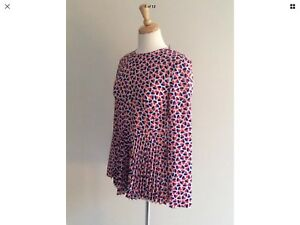 £225 New Hearts Designer Blouse top Bnwt Size Pleat Smith Rrp Paul 12 6fOfwq8vx