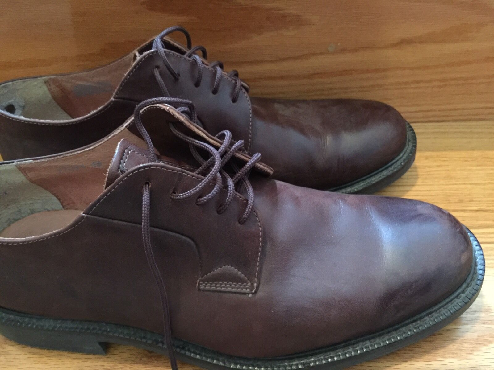 Men's J Crew Oxford shoes Brown Lace Up Casual Or Dress 13 D M Medium 97091