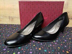 Dexflex-Comfort-171648-WW-KARMA-Black-Women-039-s-Heels-Shoes-Size-9-5W-NWB