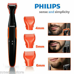 philips beard trimmer cordless detail shaver men beard styling 3 combs compact ebay. Black Bedroom Furniture Sets. Home Design Ideas