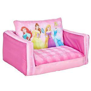 Disney-Princess-Canape-Lit-Enfants-Gonflable-Belle-Cendrillon-Raiponce-Rose-Neuf