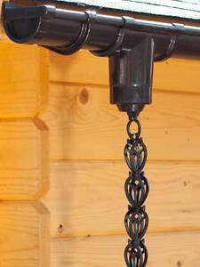 PVC Regenkette/ Dachrinnenkette Set 2.50 m [braun, anthrazit & weiß]