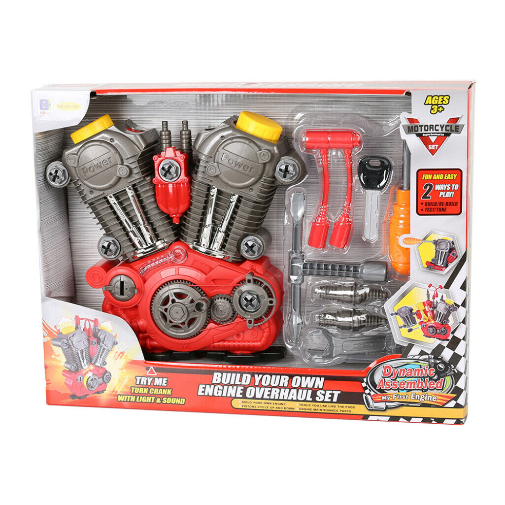 Motorcycle Set Toy Build Your Own Engine Overhaul Set